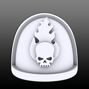 Flaming Skull Shoulderpads