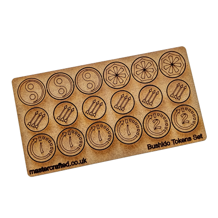 Bushido MDF Tokens Set